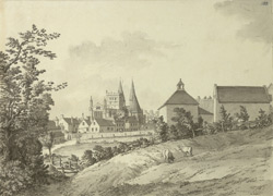 Southwell Minster, north-east view F.183